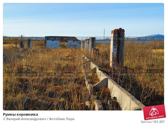 Руины коровника, фото № 101357, снято 20 октября 2007 г. (c) Валерий Александрович / Фотобанк Лори