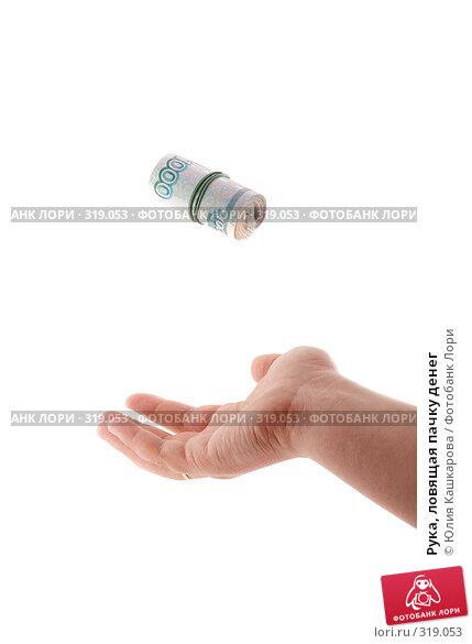Купить «Рука, ловящая пачку денег», фото № 319053, снято 10 июня 2008 г. (c) Юлия Кашкарова / Фотобанк Лори