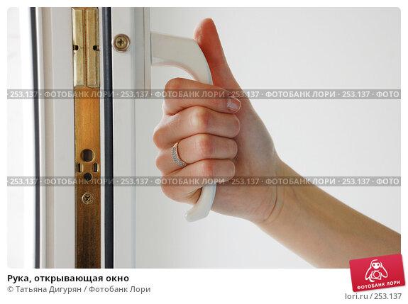 Рука, открывающая окно, фото № 253137, снято 16 апреля 2008 г. (c) Татьяна Дигурян / Фотобанк Лори