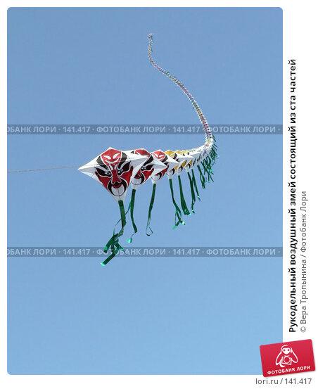 Рукодельный воздушный змей состоящий из ста частей, фото № 141417, снято 24 марта 2017 г. (c) Вера Тропынина / Фотобанк Лори