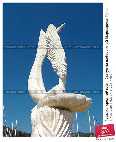 Русалка, средний план. Статуя на набережной Мармариса, Турция, фото № 6625, снято 25 февраля 2017 г. (c) Маргарита Лир / Фотобанк Лори