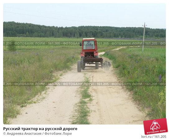 Русский трактор на русской дороге, фото № 161205, снято 17 июня 2007 г. (c) Андреева Анастасия / Фотобанк Лори