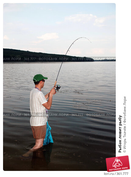 ролик рыбак ловит рыбу