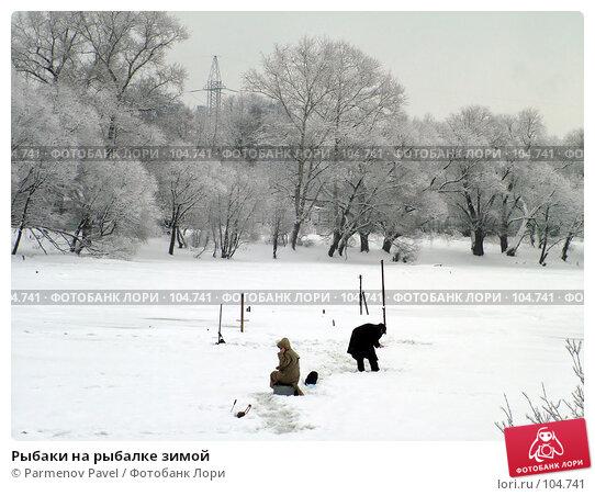 Купить «Рыбаки на рыбалке зимой», фото № 104741, снято 20 марта 2018 г. (c) Parmenov Pavel / Фотобанк Лори