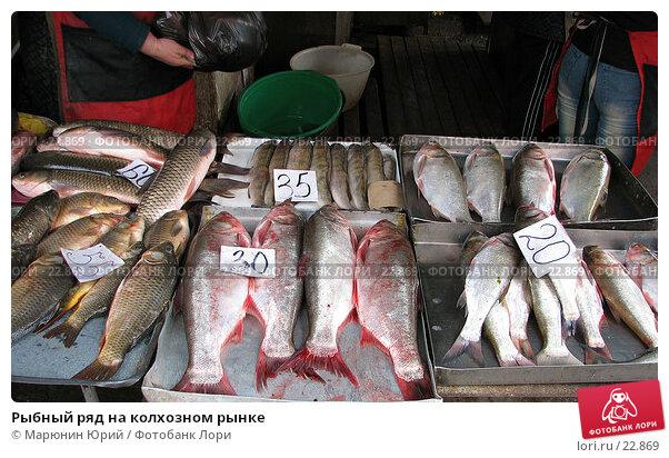 Рыбный ряд на колхозном рынке, фото № 22869, снято 27 апреля 2006 г. (c) Марюнин Юрий / Фотобанк Лори