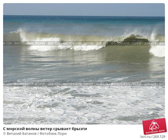 С морской волны ветер срывает брызги, фото № 269129, снято 30 августа 2006 г. (c) Виталий Батанов / Фотобанк Лори