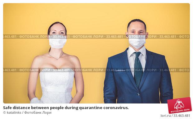 Купить «Safe distance between people during quarantine coronavirus.», фото № 33463481, снято 18 марта 2020 г. (c) katalinks / Фотобанк Лори