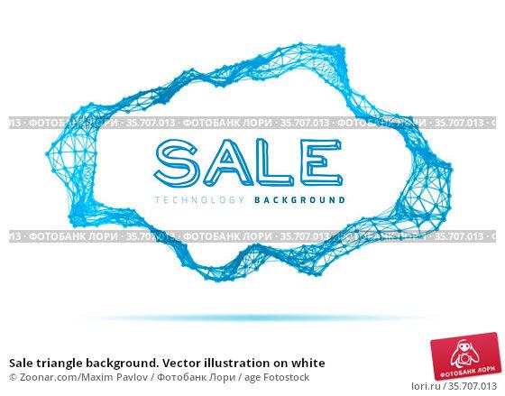 Sale triangle background. Vector illustration on white. Стоковое фото, фотограф Zoonar.com/Maxim Pavlov / age Fotostock / Фотобанк Лори
