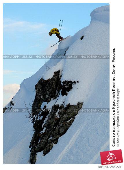 Купить «Сальто на лыжах в Красной Поляне. Сочи, Россия.», фото № 283221, снято 16 февраля 2007 г. (c) Алексей Зарубин / Фотобанк Лори