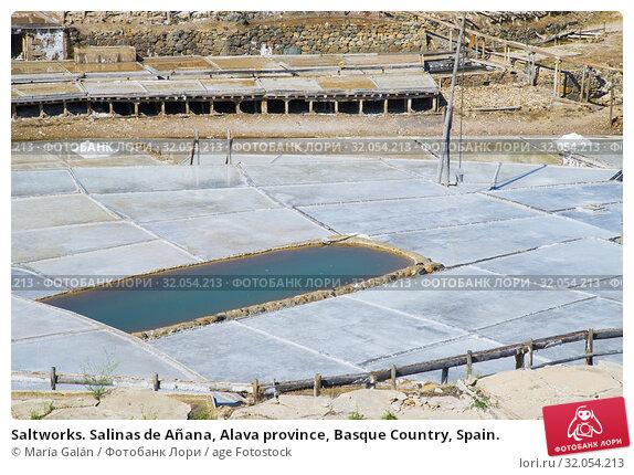 Saltworks. Salinas de Añana, Alava province, Basque Country, Spain. Стоковое фото, фотограф María Galán / age Fotostock / Фотобанк Лори