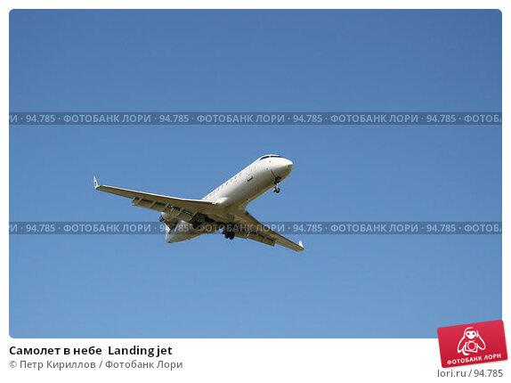 Самолет в небе  Landing jet, фото № 94785, снято 20 мая 2007 г. (c) Петр Кириллов / Фотобанк Лори