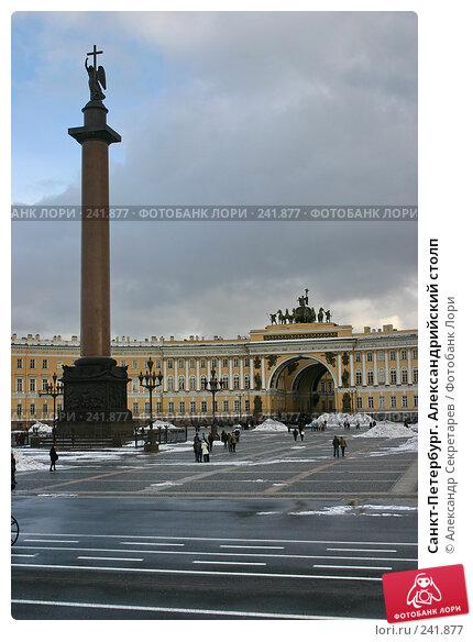 Купить «Санкт-Петербург. Александрийский столп», фото № 241877, снято 24 ноября 2017 г. (c) Александр Секретарев / Фотобанк Лори