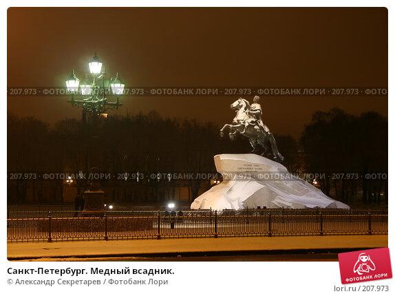 Санкт-Петербург. Медный всадник., фото № 207973, снято 17 декабря 2005 г. (c) Александр Секретарев / Фотобанк Лори