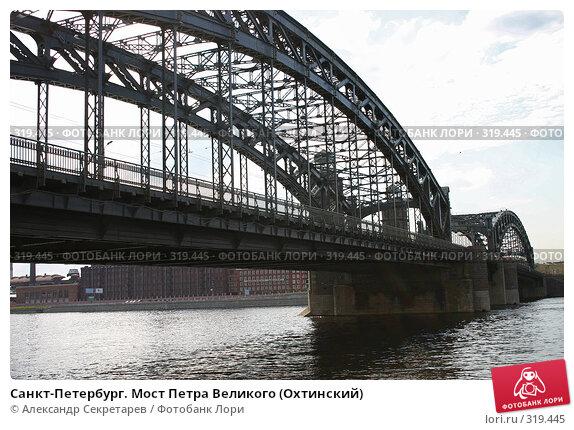 Санкт-Петербург. Мост Петра Великого (Охтинский), фото № 319445, снято 6 августа 2005 г. (c) Александр Секретарев / Фотобанк Лори