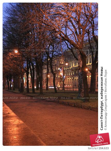 Купить «Санкт-Петербург, набережная Невы», фото № 204633, снято 22 декабря 2007 г. (c) Александр Секретарев / Фотобанк Лори