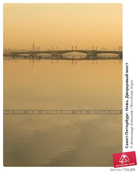 Санкт-Петербург. Нева. Дворцовый мост, эксклюзивное фото № 134205, снято 23 марта 2007 г. (c) Александр Алексеев / Фотобанк Лори