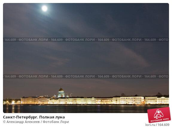Санкт-Петербург. Полная луна, эксклюзивное фото № 164609, снято 20 декабря 2007 г. (c) Александр Алексеев / Фотобанк Лори