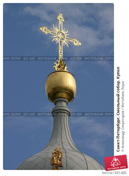 Купить «Санкт-Петербург. Смольный собор. Купол», фото № 321425, снято 6 августа 2005 г. (c) Александр Секретарев / Фотобанк Лори