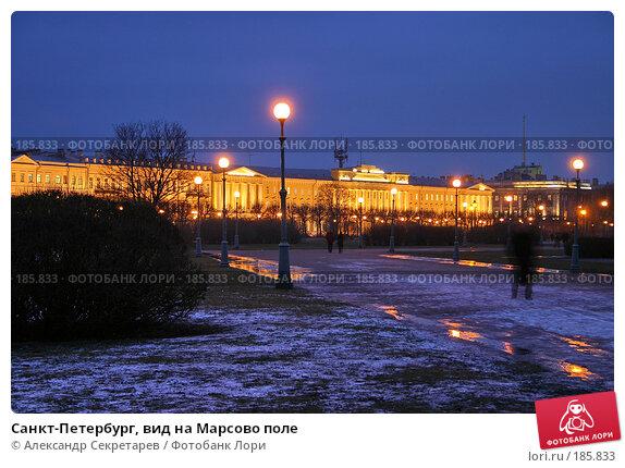 Купить «Санкт-Петербург, вид на Марсово поле», фото № 185833, снято 16 января 2008 г. (c) Александр Секретарев / Фотобанк Лори