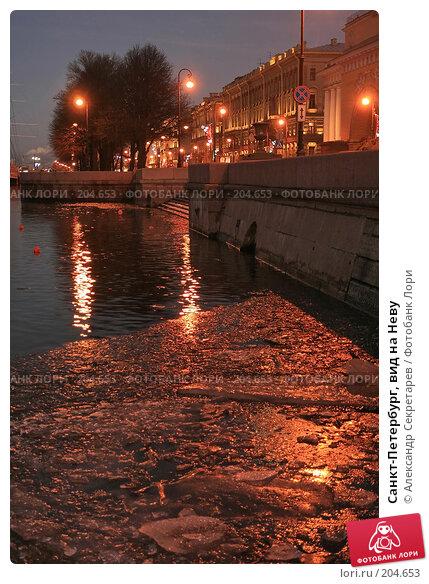 Санкт-Петербург, вид на Неву, фото № 204653, снято 22 декабря 2007 г. (c) Александр Секретарев / Фотобанк Лори