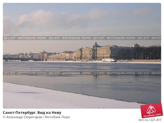 Санкт-Петербург. Вид на Неву, фото № 221417, снято 4 февраля 2005 г. (c) Александр Секретарев / Фотобанк Лори