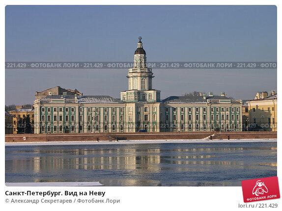 Санкт-Петербург. Вид на Неву, фото № 221429, снято 4 февраля 2005 г. (c) Александр Секретарев / Фотобанк Лори