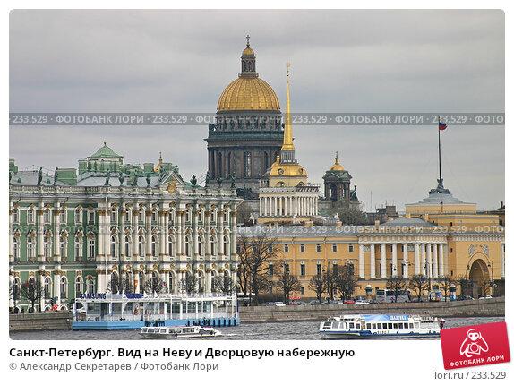 Санкт-Петербург. Вид на Неву и Дворцовую набережную, фото № 233529, снято 10 мая 2005 г. (c) Александр Секретарев / Фотобанк Лори