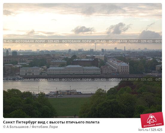 Санкт Петербург вид с высоты птичьего полета, фото № 329425, снято 26 марта 2017 г. (c) A Большаков / Фотобанк Лори