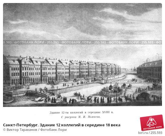 Санкт-Петербург. Здание 12 коллегий в середине 18 века, фото № 255593, снято 18 января 2017 г. (c) Виктор Тараканов / Фотобанк Лори