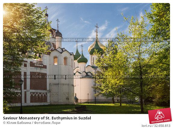 Купить «Saviour Monastery of St. Euthymius in Suzdal», фото № 32650813, снято 15 мая 2018 г. (c) Юлия Бабкина / Фотобанк Лори