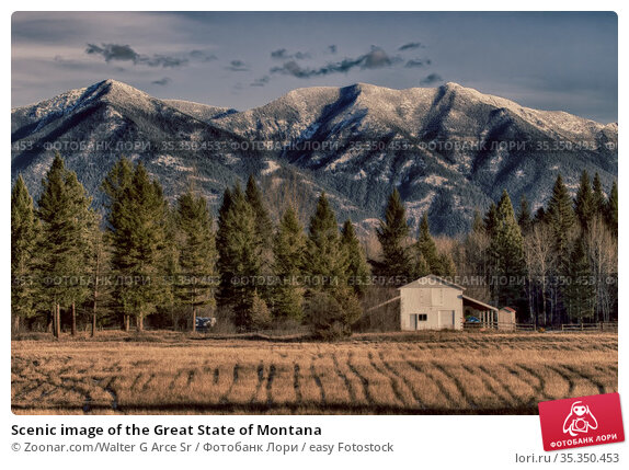 Scenic image of the Great State of Montana. Стоковое фото, фотограф Zoonar.com/Walter G Arce Sr / easy Fotostock / Фотобанк Лори