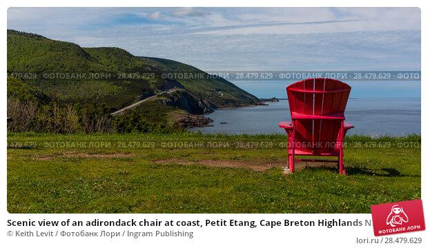 Купить «Scenic view of an adirondack chair at coast, Petit Etang, Cape Breton Highlands National Park, Cape Breton Island, Nova Scotia, Canada», фото № 28479629, снято 12 июня 2016 г. (c) Ingram Publishing / Фотобанк Лори