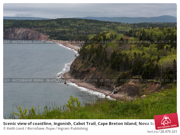 Купить «Scenic view of coastline, Ingonish, Cabot Trail, Cape Breton Island, Nova Scotia, Canada», фото № 28479321, снято 12 июня 2016 г. (c) Ingram Publishing / Фотобанк Лори