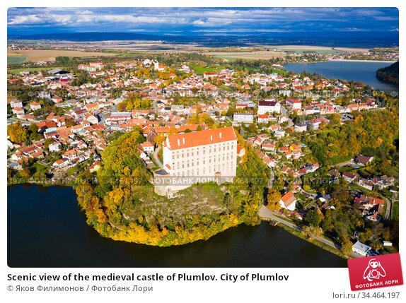 Scenic view of the medieval castle of Plumlov. City of Plumlov. Стоковое фото, фотограф Яков Филимонов / Фотобанк Лори