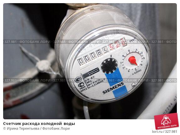 Счетчик расхода холодной  воды, эксклюзивное фото № 327981, снято 18 июня 2008 г. (c) Ирина Терентьева / Фотобанк Лори