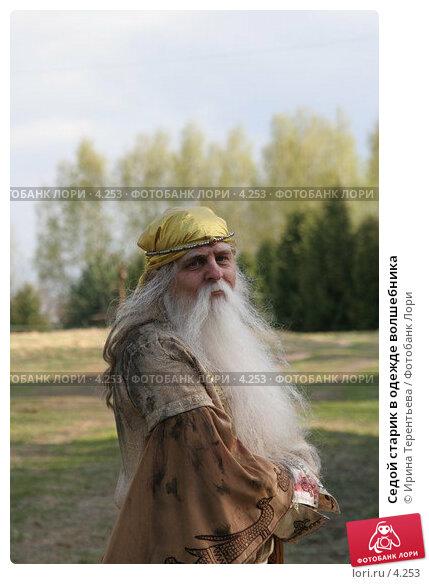 Седой старик в одежде волшебника, эксклюзивное фото № 4253, снято 8 мая 2006 г. (c) Ирина Терентьева / Фотобанк Лори
