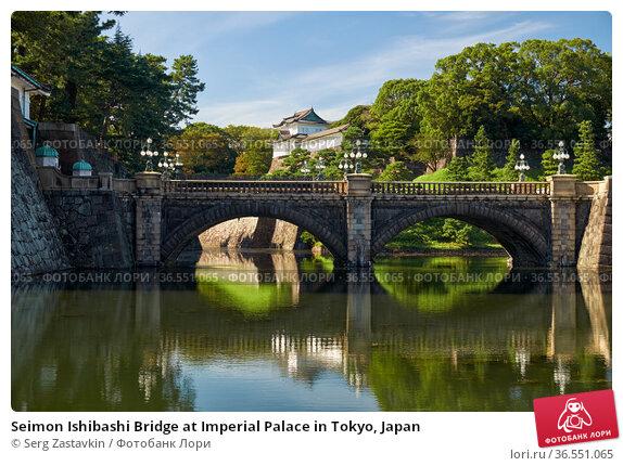 Seimon Ishibashi Bridge at Imperial Palace in Tokyo, Japan (2019 год). Стоковое фото, фотограф Serg Zastavkin / Фотобанк Лори