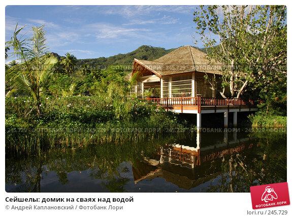 Сейшелы: домик на сваях над водой, фото № 245729, снято 29 августа 2007 г. (c) Андрей Каплановский / Фотобанк Лори