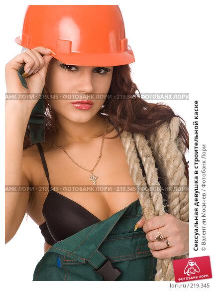 Сексуальная девушка в строительной каске, фото № 219345, снято 17 февраля 2008 г. (c) Валентин Мосичев / Фотобанк Лори
