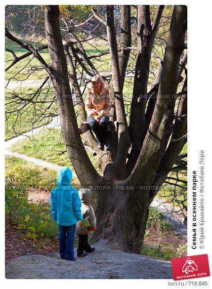 Купить «Семья в осеннем парке», фото № 718845, снято 19 октября 2008 г. (c) Юрий Брыкайло / Фотобанк Лори