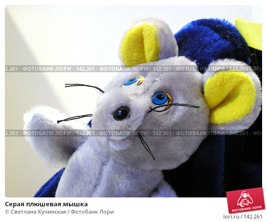 Купить «Серая плюшевая мышка», фото № 142261, снято 8 декабря 2007 г. (c) Светлана Кучинская / Фотобанк Лори
