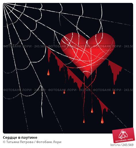 Купить «Сердце в паутине», иллюстрация № 243569 (c) Татьяна Петрова / Фотобанк Лори