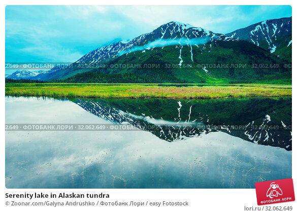 Serenity lake in Alaskan tundra. Стоковое фото, фотограф Zoonar.com/Galyna Andrushko / easy Fotostock / Фотобанк Лори