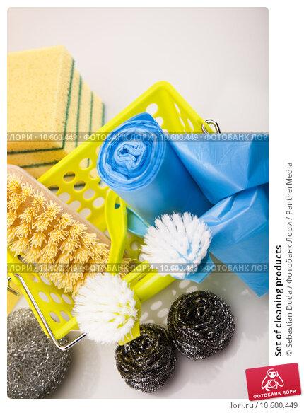 Set of cleaning products . Стоковое фото, фотограф Sebastian Duda / PantherMedia / Фотобанк Лори