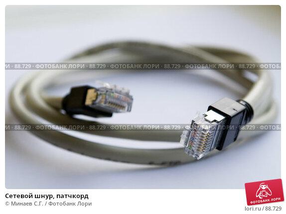 Сетевой шнур, патчкорд, фото № 88729, снято 20 августа 2006 г. (c) Минаев С.Г. / Фотобанк Лори