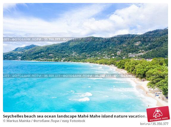 Seychelles beach sea ocean landscape Mahé Mahe island nature vacation... Стоковое фото, фотограф Markus Mainka / easy Fotostock / Фотобанк Лори