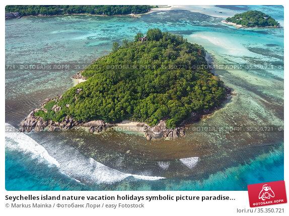 Seychelles island nature vacation holidays symbolic picture paradise... Стоковое фото, фотограф Markus Mainka / easy Fotostock / Фотобанк Лори