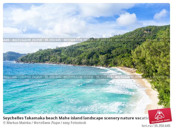 Seychelles Takamaka beach Mahe island landscape scenery nature vacation... Стоковое фото, фотограф Markus Mainka / easy Fotostock / Фотобанк Лори