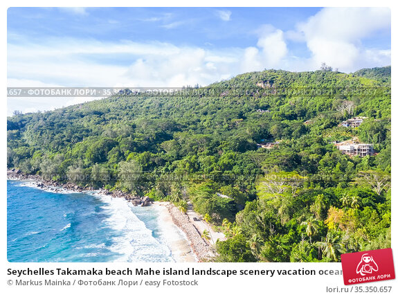 Seychelles Takamaka beach Mahe island landscape scenery vacation ocean... Стоковое фото, фотограф Markus Mainka / easy Fotostock / Фотобанк Лори