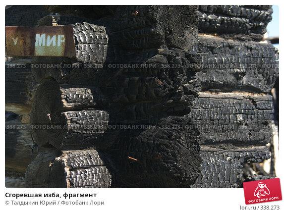 Сгоревшая изба, фрагмент, фото № 338273, снято 18 июня 2008 г. (c) Талдыкин Юрий / Фотобанк Лори